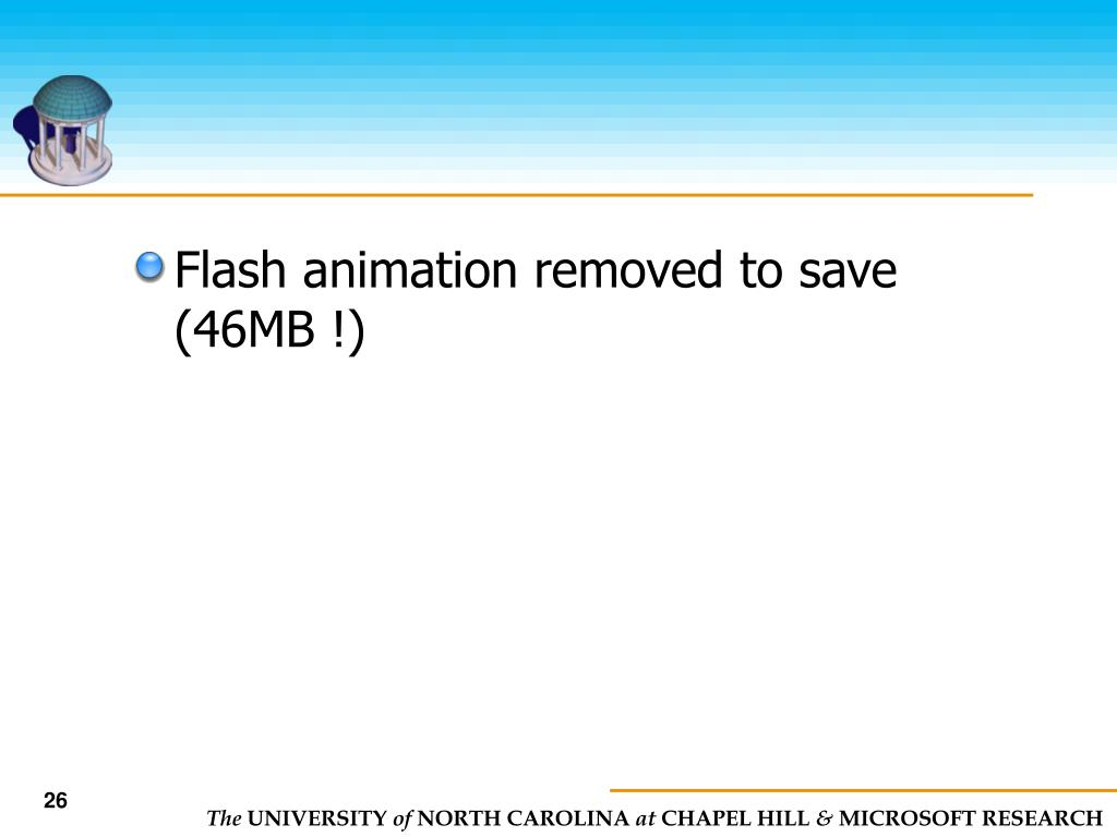 Flash animation removed to save (46MB !)