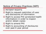 notice of privacy practices npp