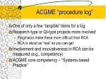 acgme procedure log