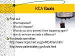 rca goals