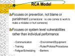 rca model