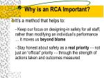 why is an rca important