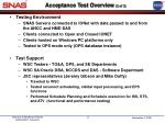 acceptance test overview 2 of 3