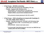 acceptance test results moc client 2 of 6