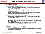 wsc it security evaluation 3 of 6