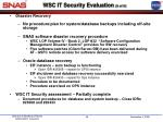 wsc it security evaluation 5 of 6