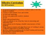 effective curriculum for all learners9
