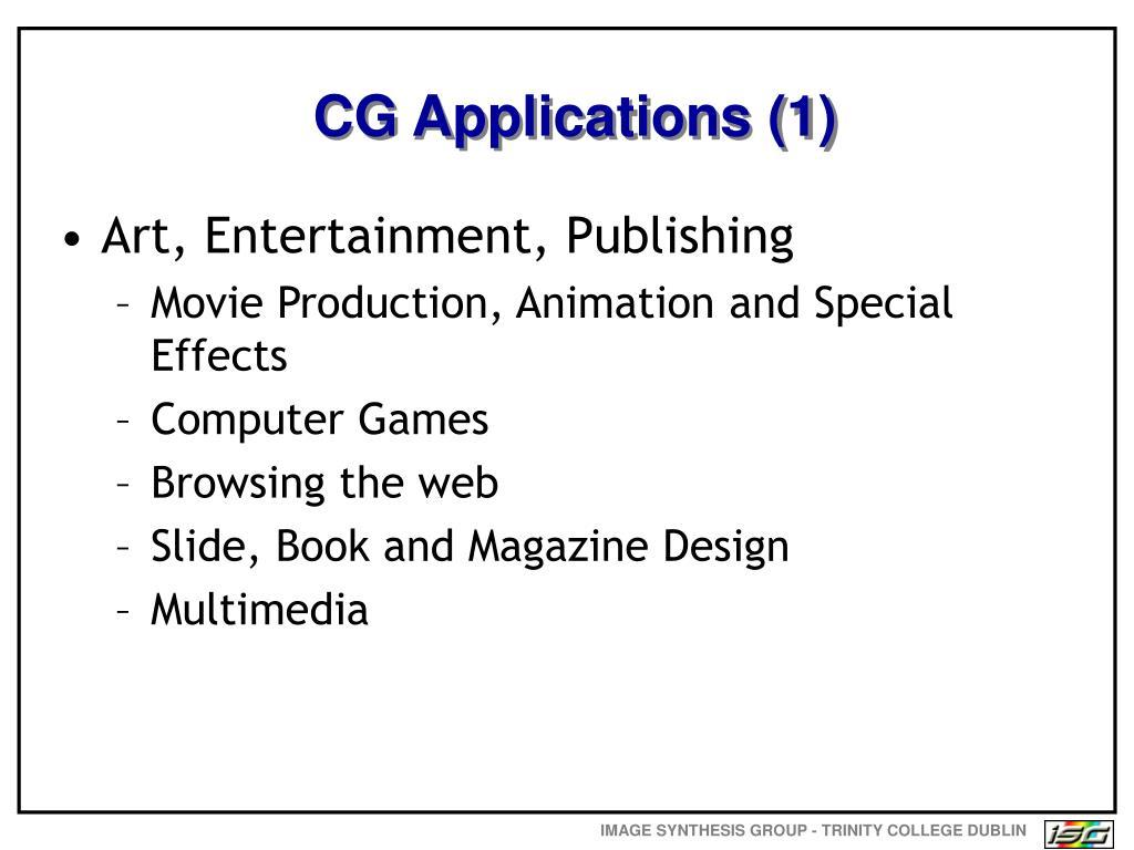 CG Applications (1)