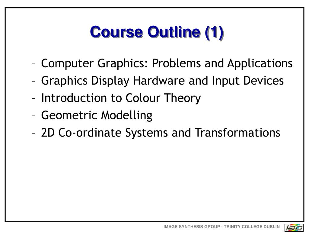 Course Outline (1)