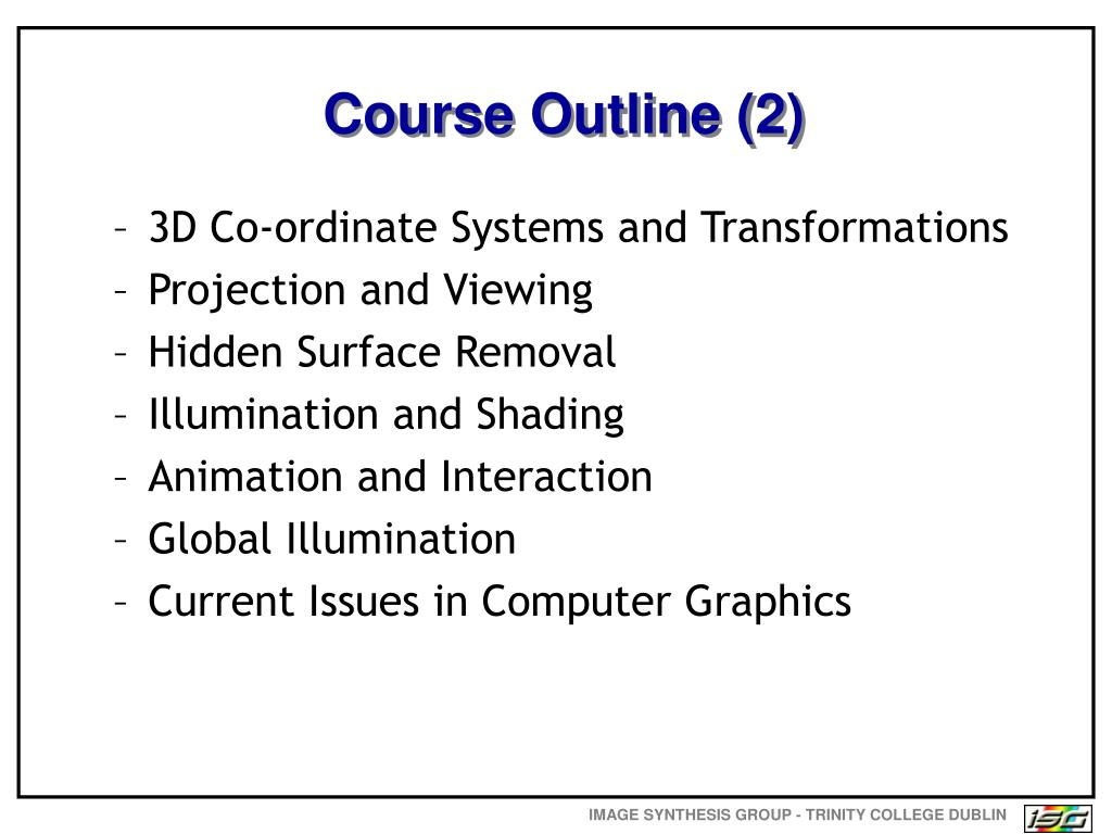 Course Outline (2)