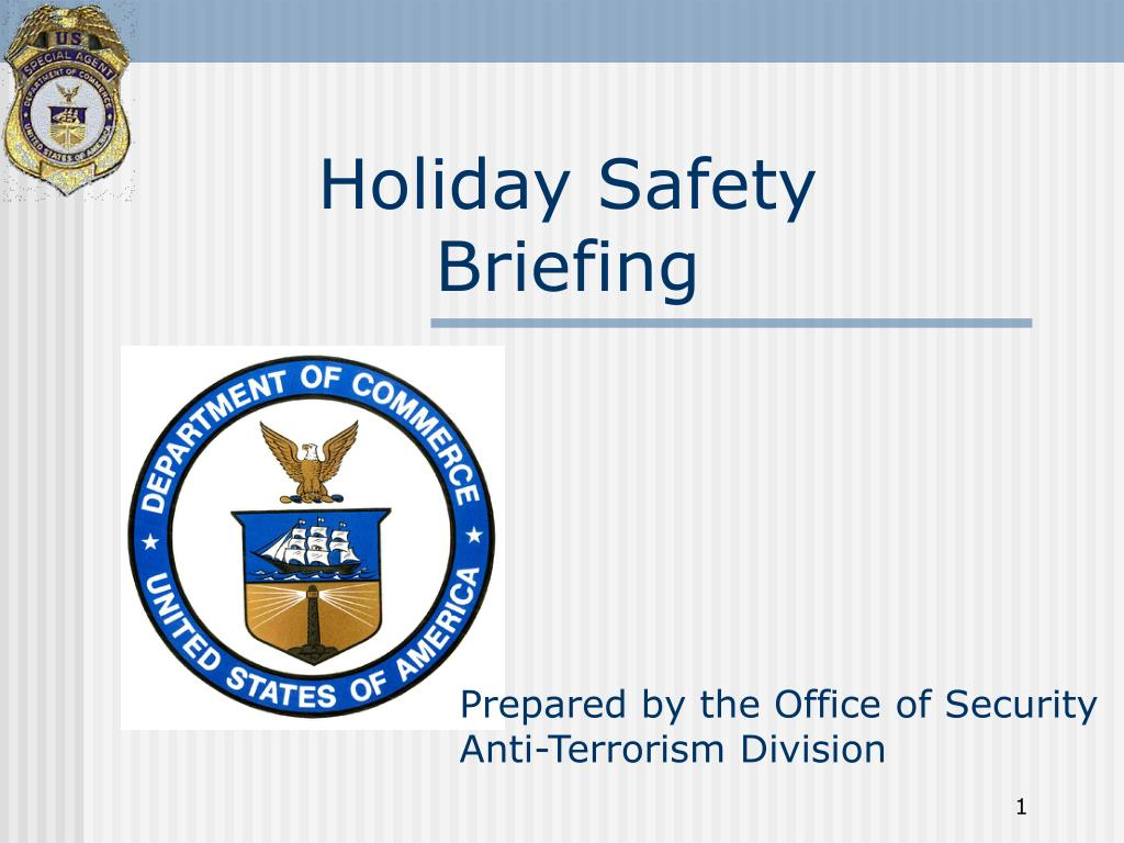 holiday safety briefing l.