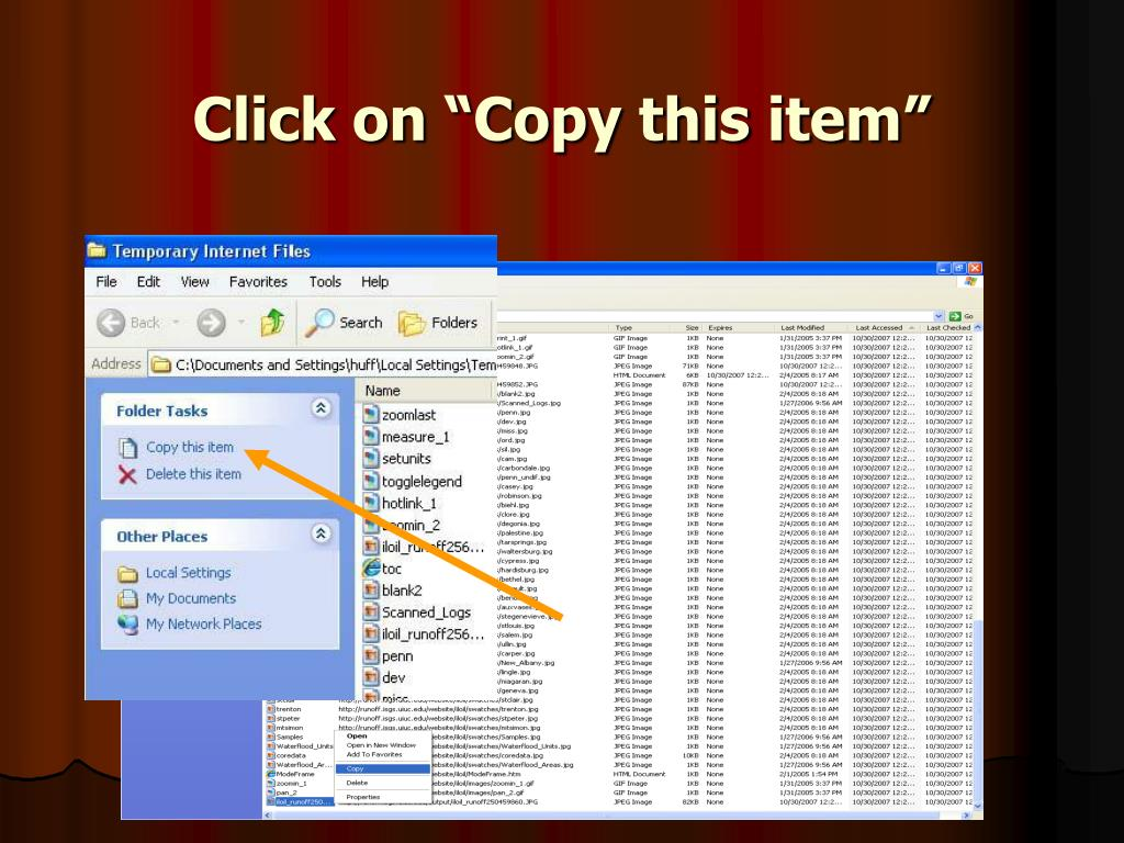 """Click on """"Copy this item"""""""