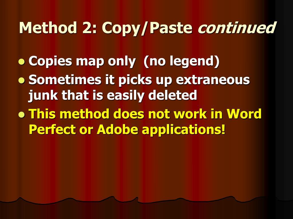 Method 2: Copy/Paste