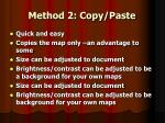 method 2 copy paste