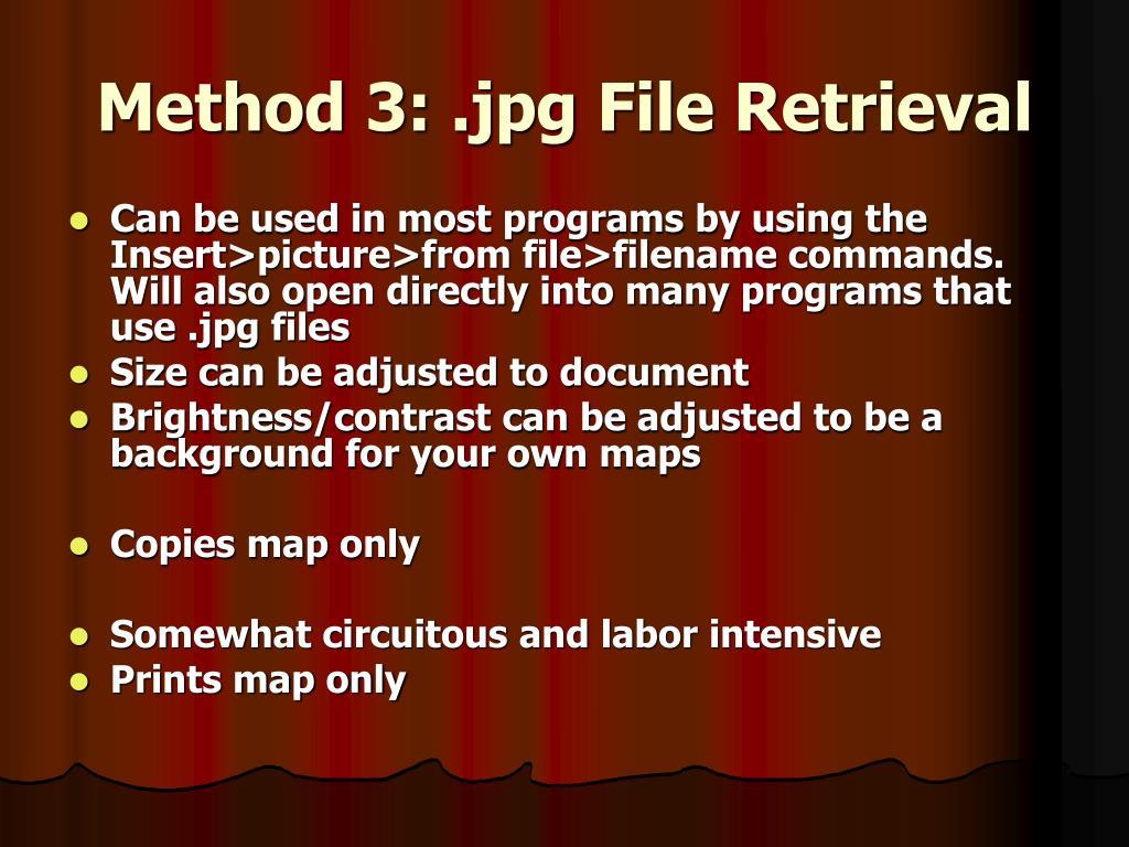 Method 3: .jpg File Retrieval