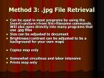 method 3 jpg file retrieval