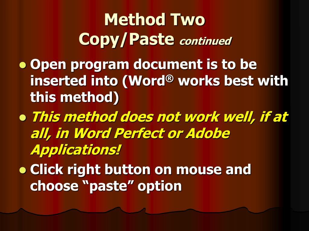 Method Two