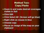 method two copy paste