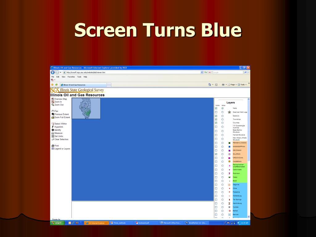 Screen Turns Blue