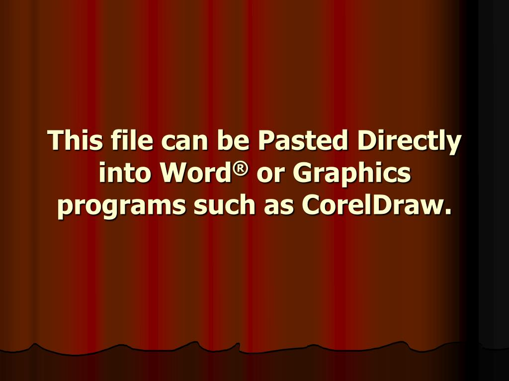 This file can be Pasted Directly into Word