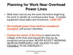 planning for work near overhead power lines