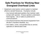 safe practices for working near energized overhead lines