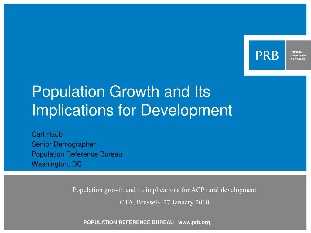 population growth and its implications for development l.