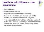 health for all children core programme