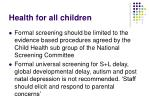 health for all children18
