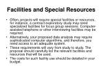 facilities and special resources