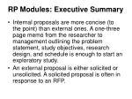 rp modules executive summary1