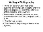writing a bibliography