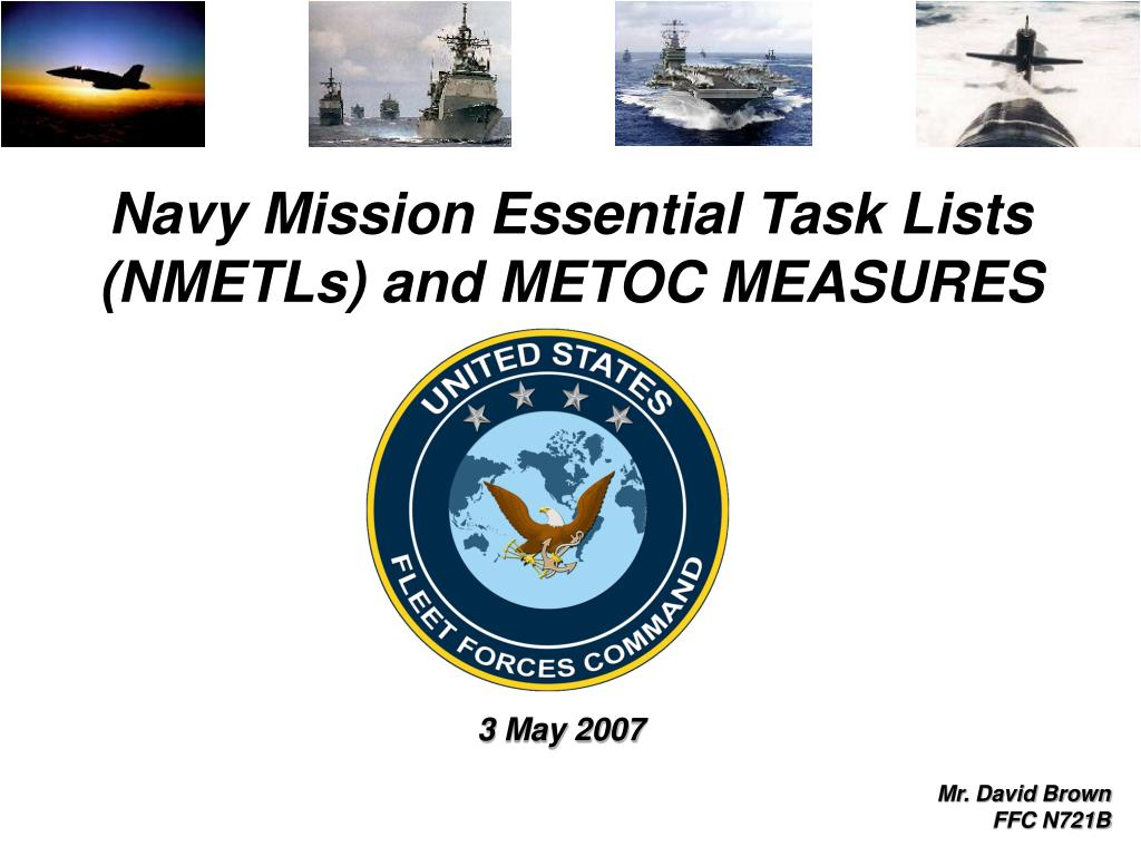 navy mission essential task lists nmetls and metoc measures l.