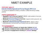 nmet example