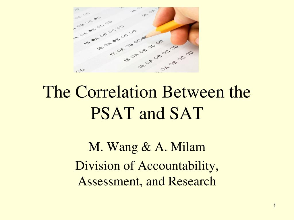 the correlation between the psat and sat l.