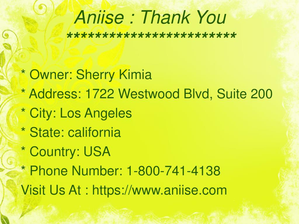 Aniise: Thank You