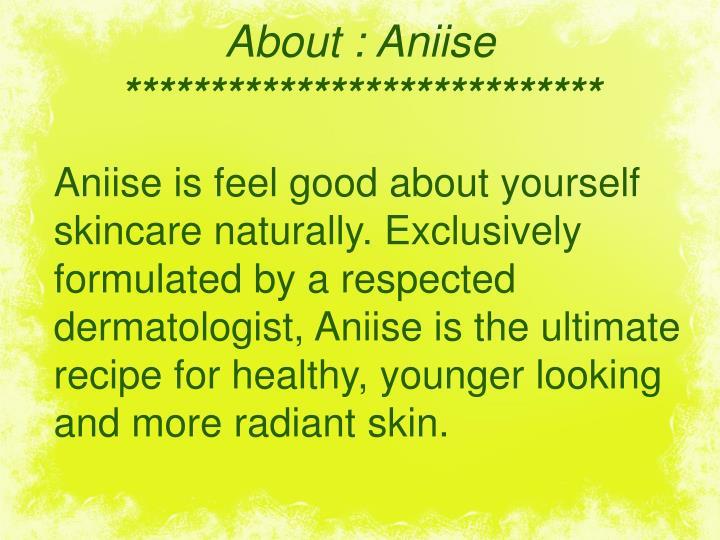 About: Aniise
