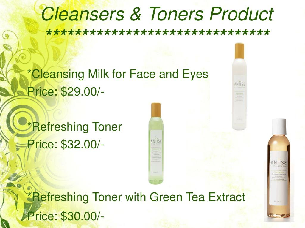 Cleansers & Toners Product
