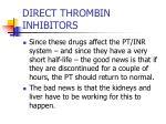 direct thrombin inhibitors41