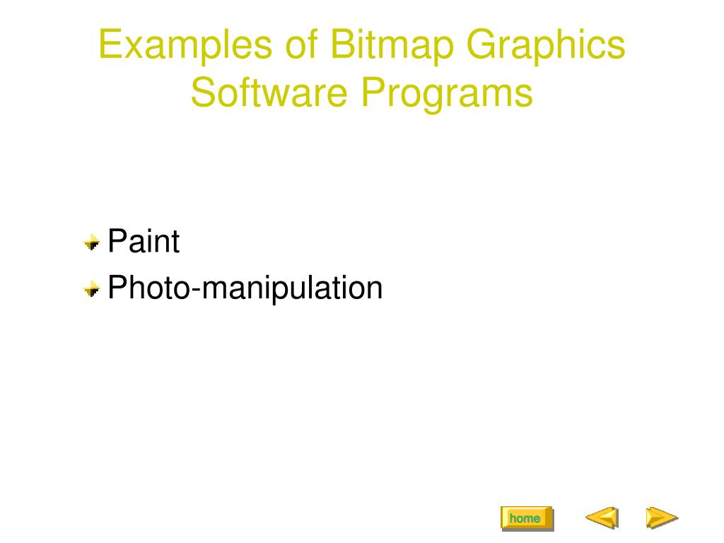 Examples of Bitmap Graphics Software Programs