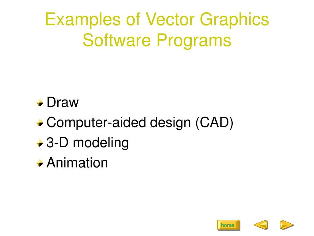 Examples of Vector Graphics Software Programs