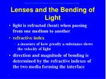 lenses and the bending of light