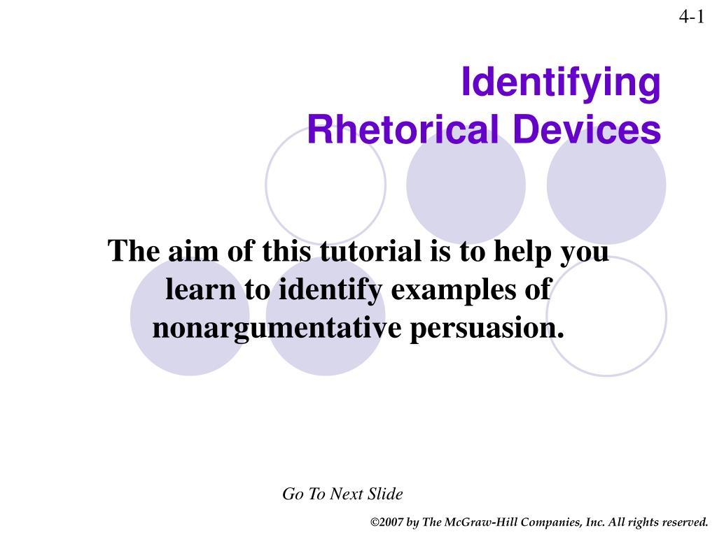 identifying rhetorical devices l.