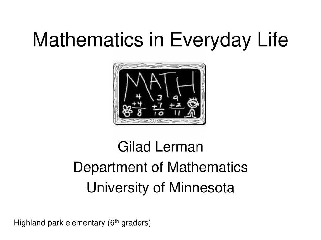 mathematics in everyday life l.