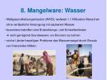 8 mangelware wasser