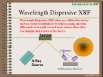 wavelength dispersive xrf