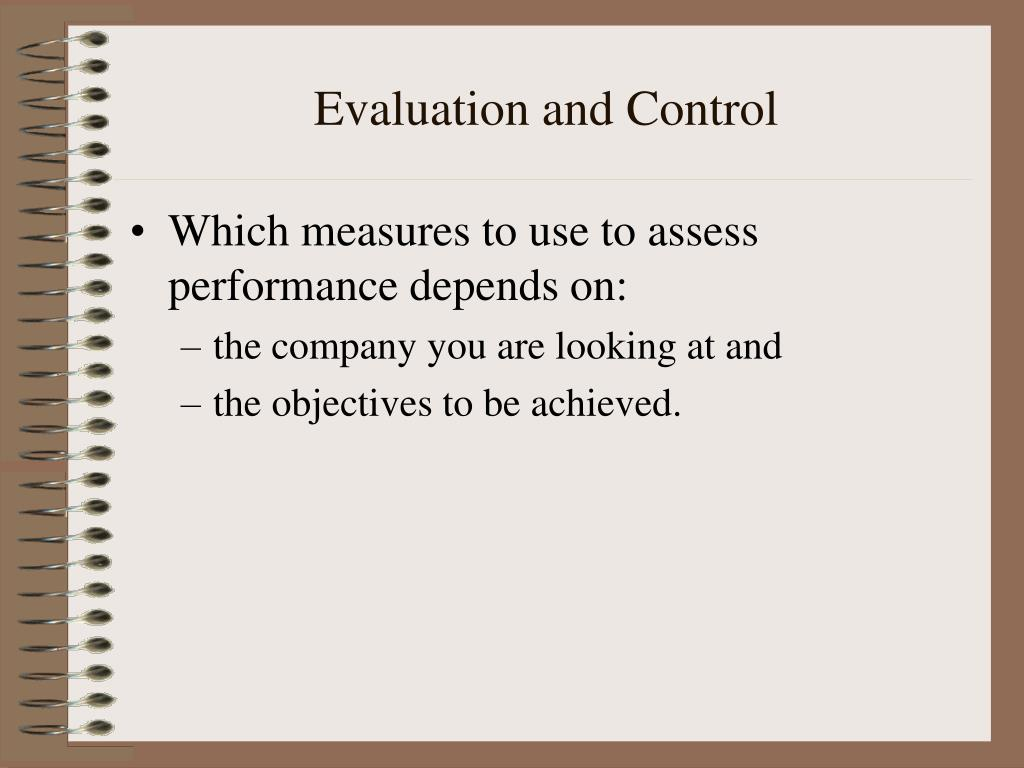 evaluation and control l.