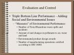 evaluation and control7