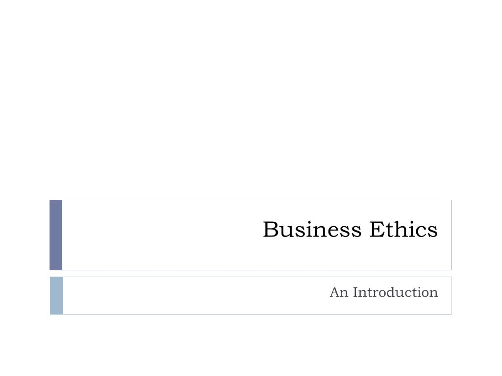 business ethics l.