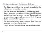 christianity and business ethics
